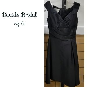 David's Bridal sz6 black dress